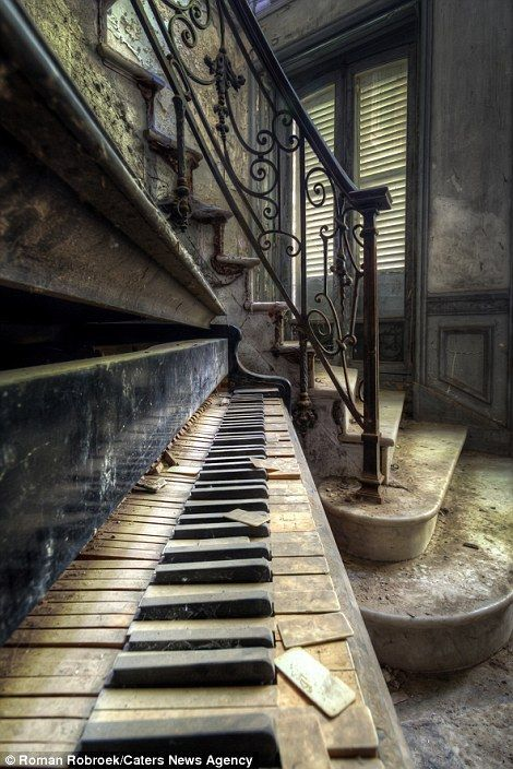Photographer travels the world shooting pianos in abandoned locations #overgrownaesthetic