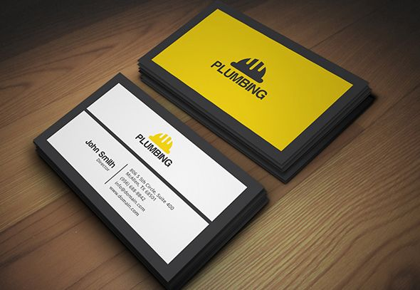 Plumbing Business Card Business Cards Creative Templates Business Card Design Business Card Template Design