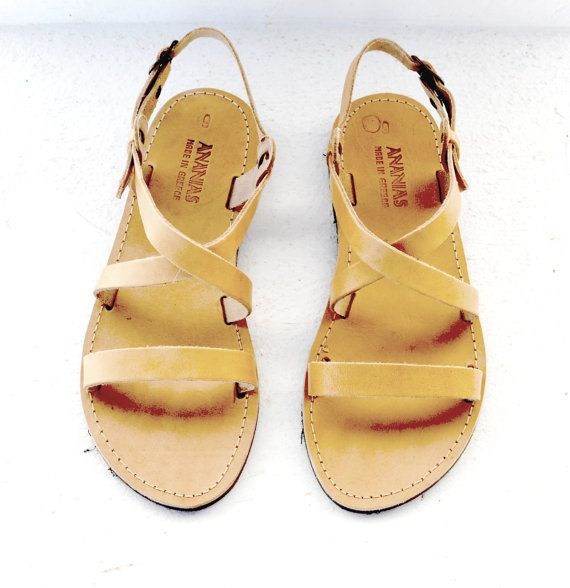 Handmade Roman Grecian leather sandals-NEW STYLE por AnaniasSandals
