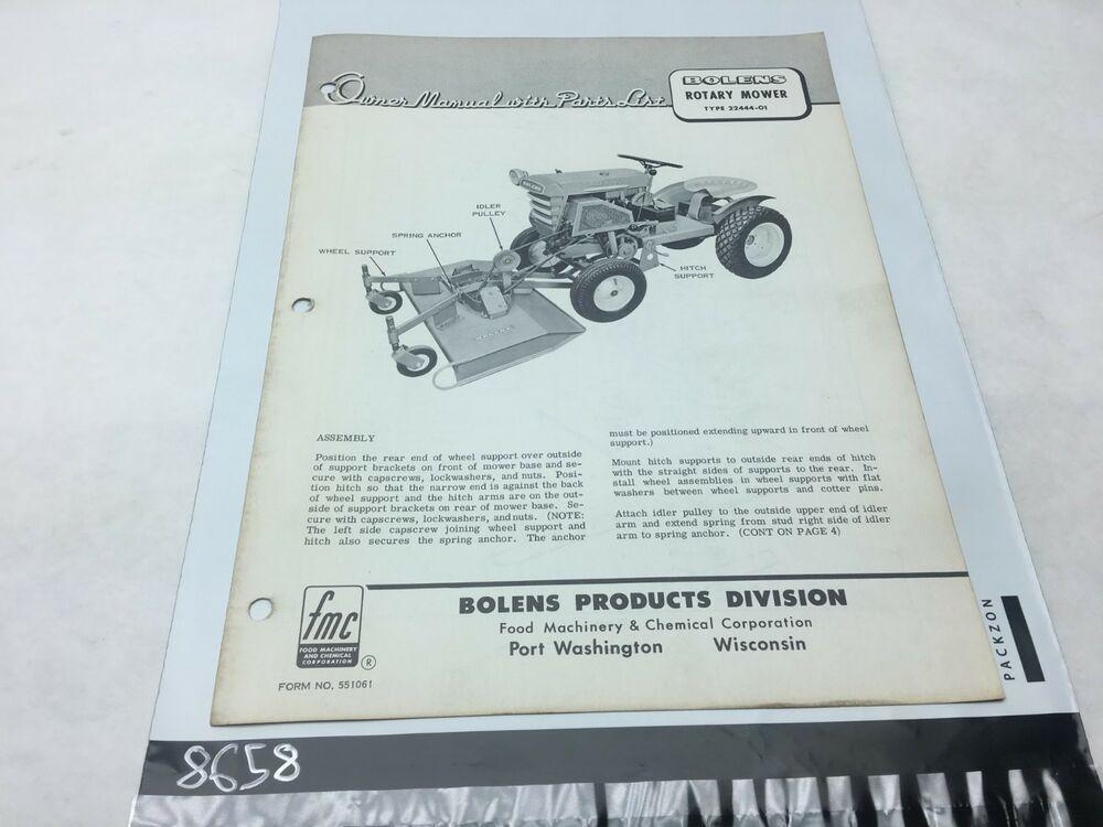 bolens lawn tractor manual