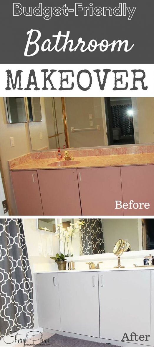 Photo of So I transformed this pink bathroom of the 80s into a modern gray and white with …