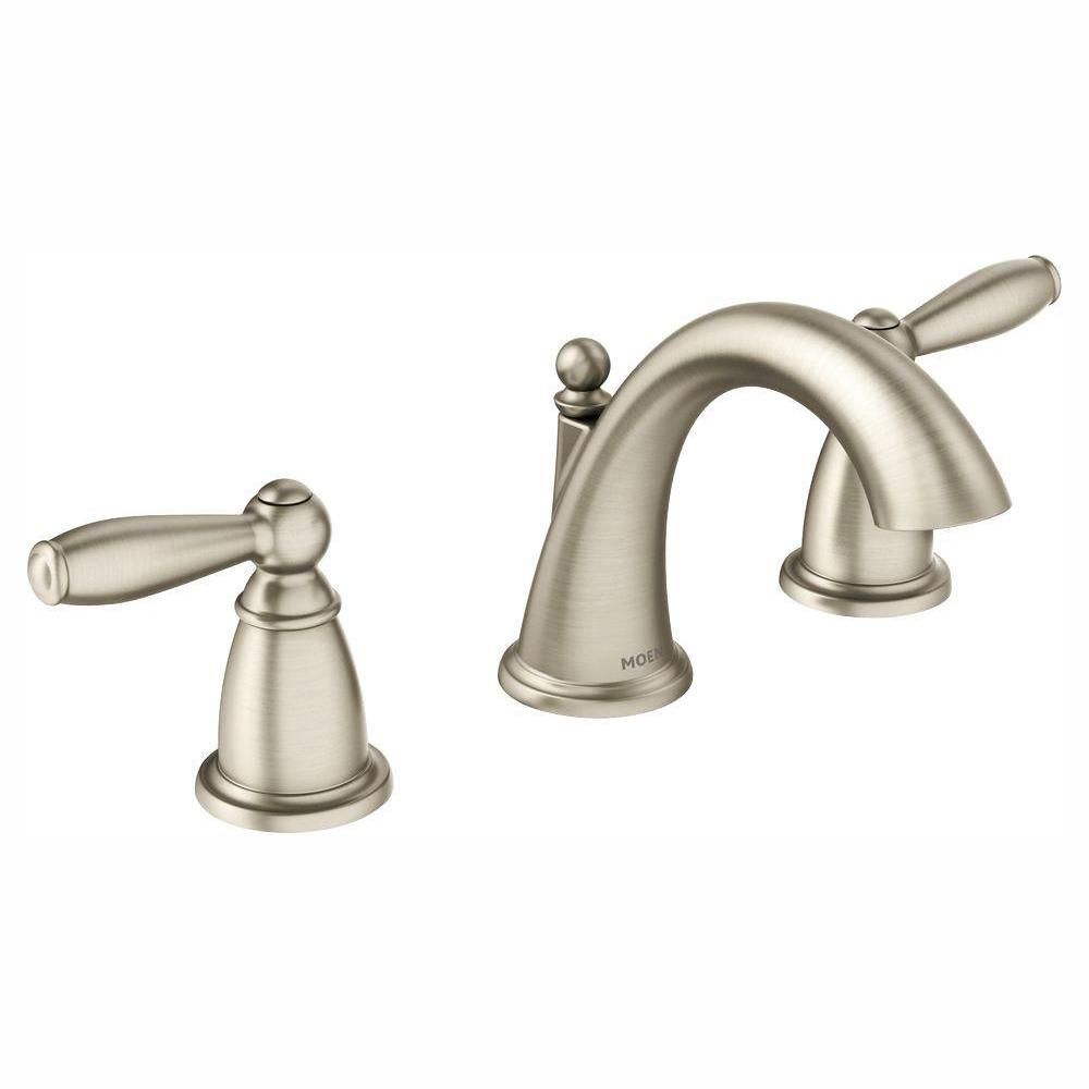 Moen Brantford 8 In Widespread 2 Handle High Arc Bathroom Faucet Trim Kit In Brushed Nickel Valve Not Included Brushed Nickel Widespread Widespread Bathroom Faucet Bathroom Faucets Bathroom Sink Faucets