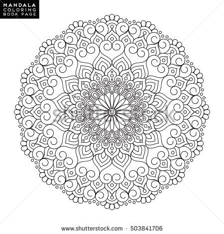 Vector outline mandala  Mandalas outline  Pinterest  Mandala