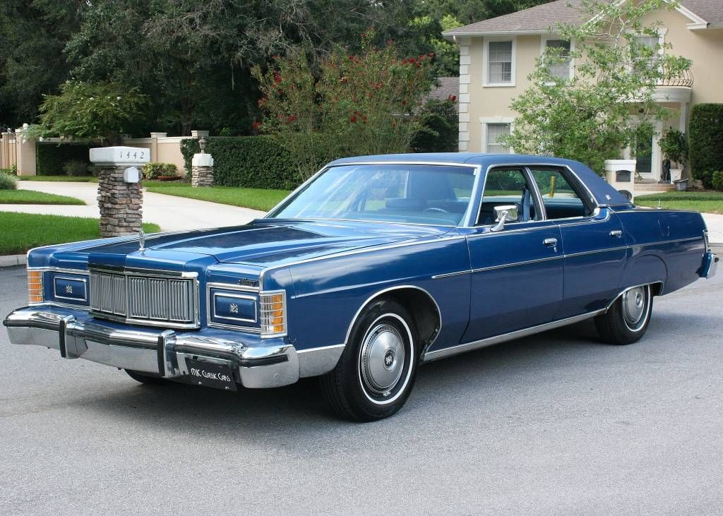 1977 Mercury Marquis in blue Mercury Marquis, Lincoln Motor, Edsel Ford, Grand Marquis