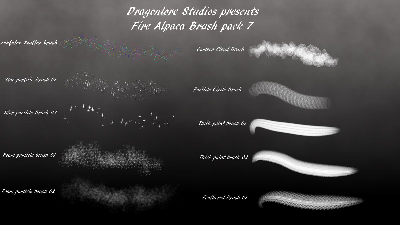 Image result for firealpaca cloud brushes | firealpaca brushes