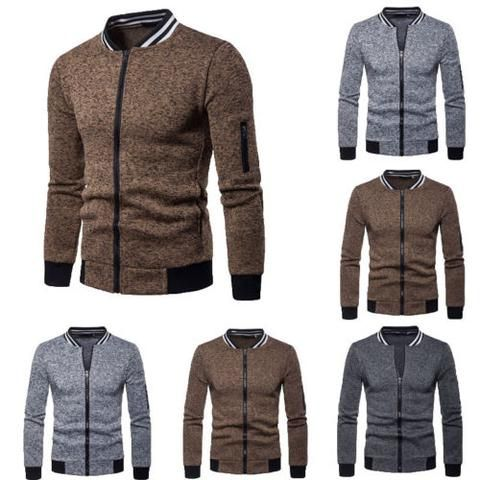 3bd4fd21c3f Men Jacket And Coat Winter Slim Fit Coats Jacket Sweater Sweatshirt Outwear  Warm Outfits Clothes Casual Men Clothing 2018 New