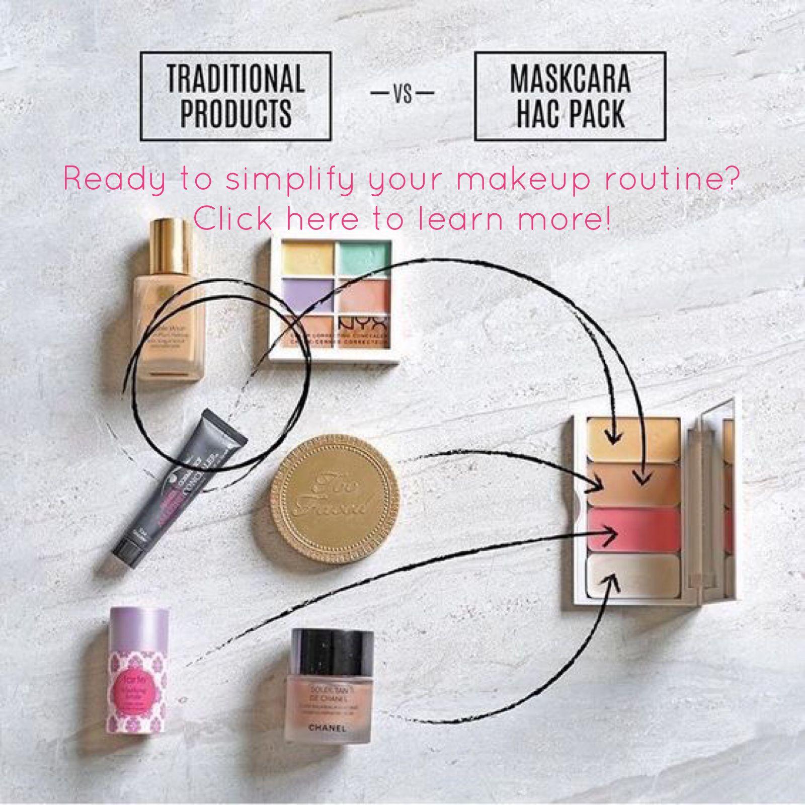 Maskcara Beauty highlighting and contouring. Easy makeup