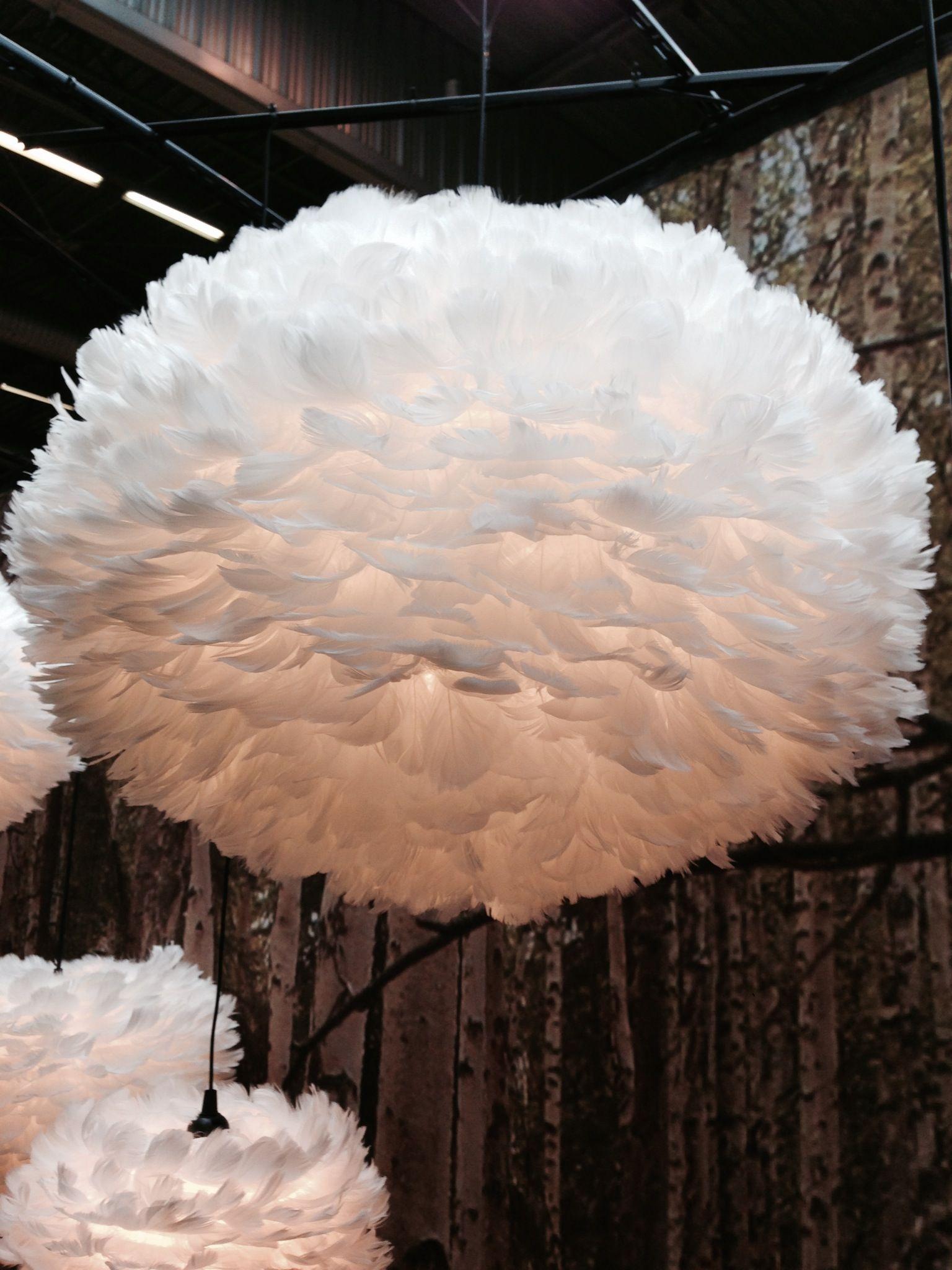 suspension luminaire nuage de plumes Vita