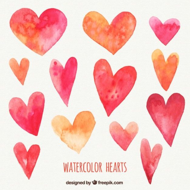 Download Watercolor Hearts Pack For Free Watercolor Heart