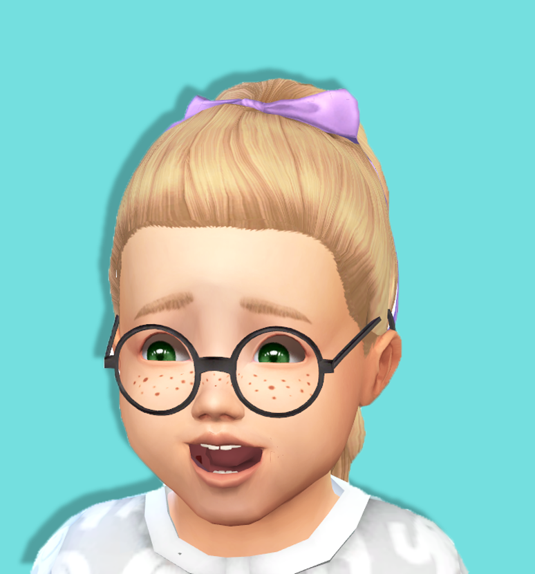 Baby Bowed Pony Tail - Toddler Hair - Kids Room Stuff Conversion - BGCDownload | SFS | DB I tried to make it BGC - I'm not sure if it is BGC or not so download it and try it - if it isn't let me know...