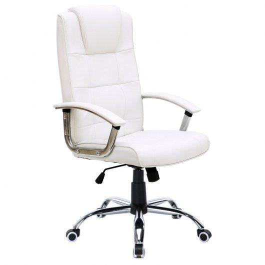 silla blanca de espaldas