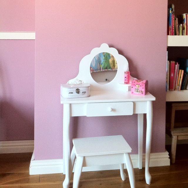 My Daughters Bedroom. Farrow & Ball Cinder Rose, And Wimborne White For The Woodwork.