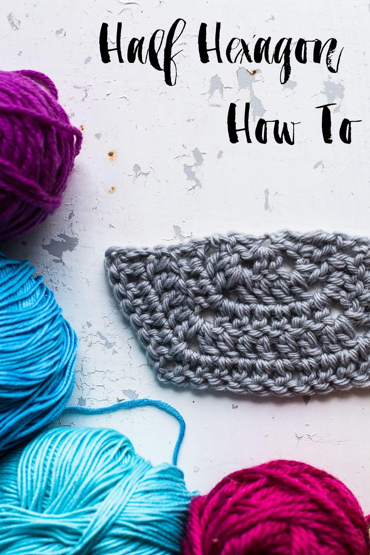 Half Hexagon How To | Pinterest | Aprender crochet y Colchas