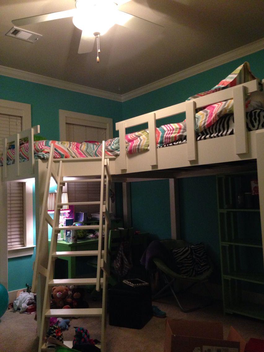 Cute loft bed ideas  Cute new two loft bed bed  habitacion  Pinterest  Lofts Bedrooms