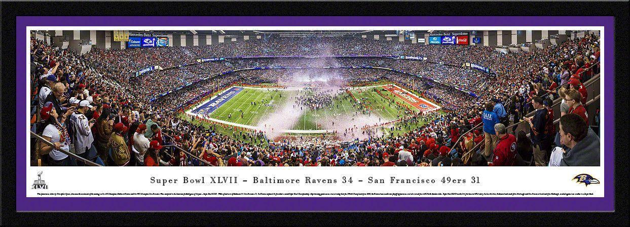 Baltimore Ravens 2013 Super Bowl 50 Yard Line Panoramic Picture