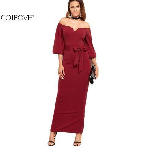 Elegant European Style Designer Burgundy Sweetheart Off The Shoulder