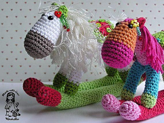 Crochet pattern by VendulkaM - Christmas Rocking horse - amigurumi ...