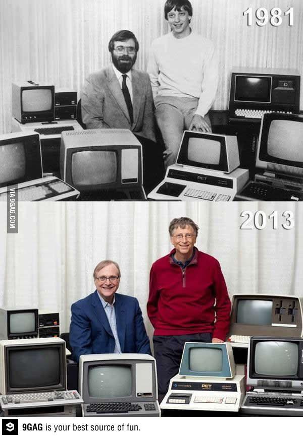 Some Geeks Never Change Computer History Bill Gates Bill Gates Steve Jobs