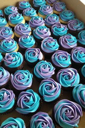 Blue & lavender cupcakes yum