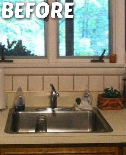 Cheap Way To Cover Ur Ugly Kitchen Backsplash Tile