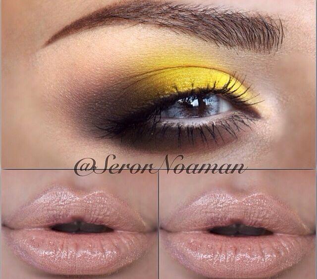 Yellow Brown Smokey Eyes Smokey Eye For Brown Eyes Artistry