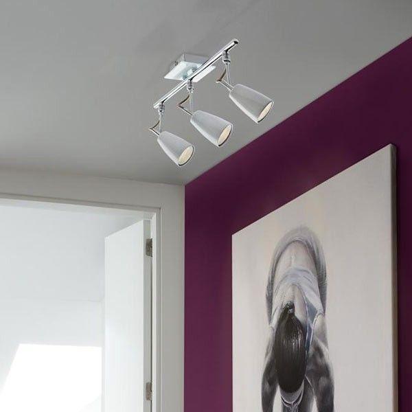 DESCUENTOS OFERTAS OUTLET Lámpara Foco LED 3 luces cromo