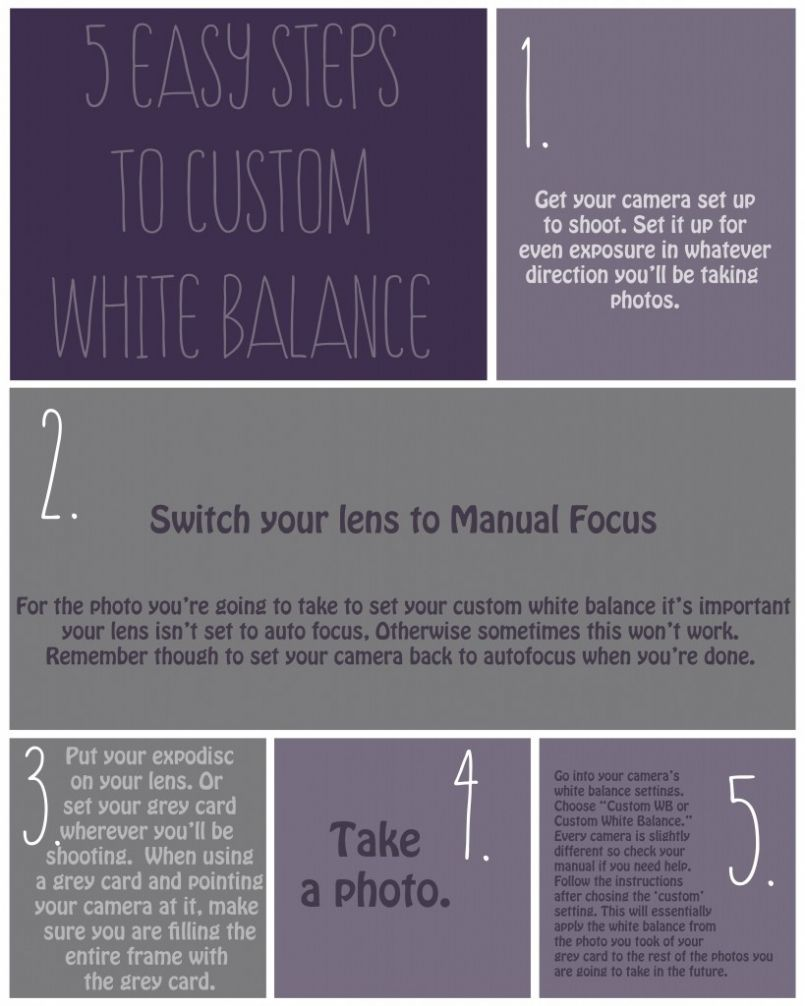5 easy steps to custom white balance on your camera white balance rh pinterest com Manual White Balance Card White Balance Underwater