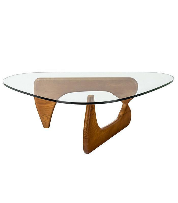 Isamu Noguchi Style Coffee Table Walnut Décor Details
