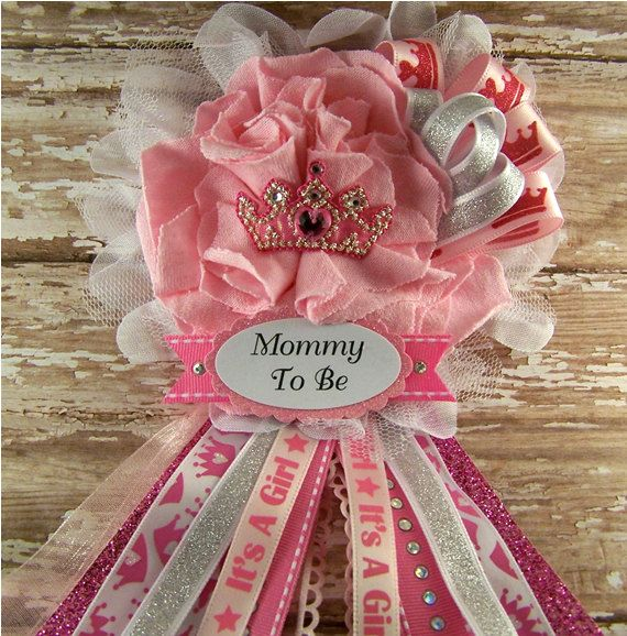 Princess Baby Shower Corsage Mom To Be Corsage By Bloomingparty