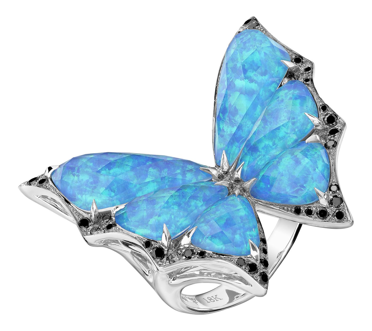 3aaab52d5092 Stephen Webster Fly By Night Cocktail Ring in Black Opal Crystal Haze.   opal  butterfly  jewelry