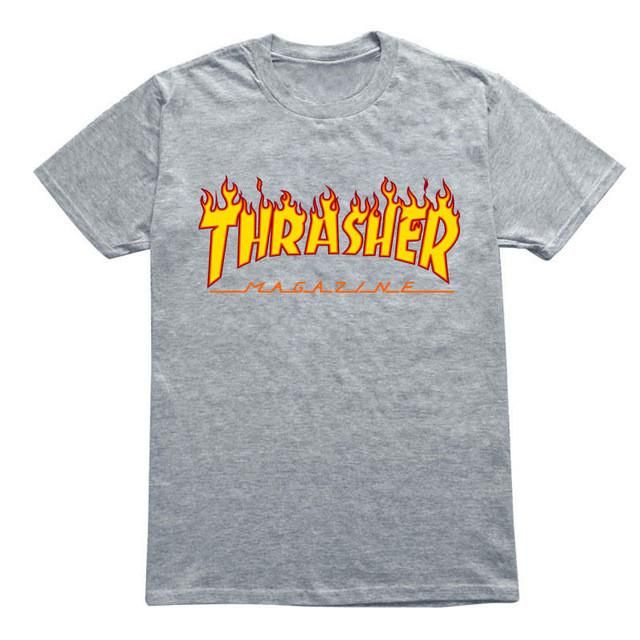038f7d93e7234 Eqmpowy 2017 thrasher T Shirt Men Women Skateboards tee Short Sleeve Skate  T shirts Tops Hip Hop T shirt Homme Man Trasher