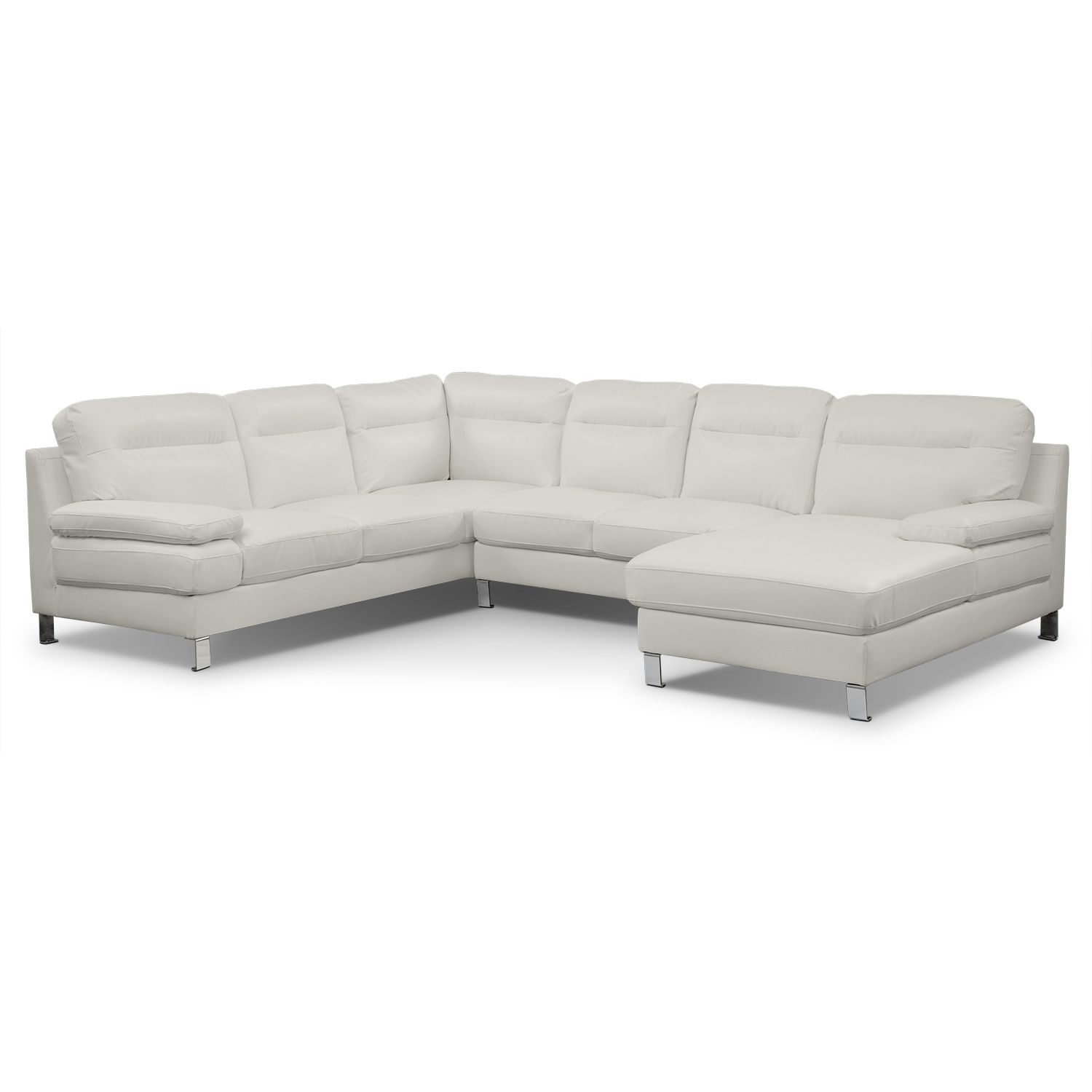Living Room Furniture Cortina II 3 Pc Sectional