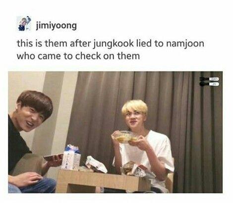 Like mother,like son Jin don't you teach him bad things like Namjoon did