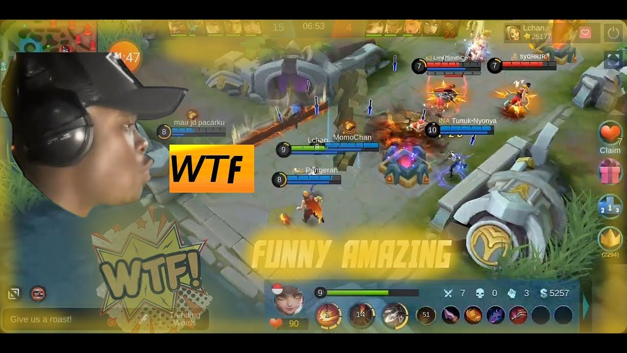 wtf funny video lachan gameplay mobile legends | mobile