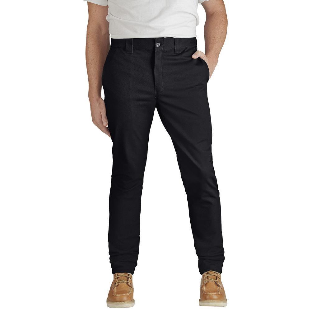 Dickies men 32 in x 34 in flex slim skinny fit black