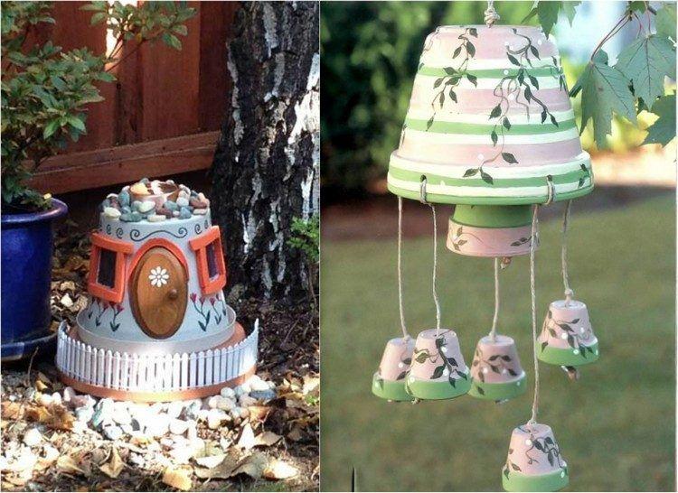 D Co Jardin Diy 35 Id Es Pour Int Grer Les Pots En Terre Cuite Jardin Cloche Pot En Terre