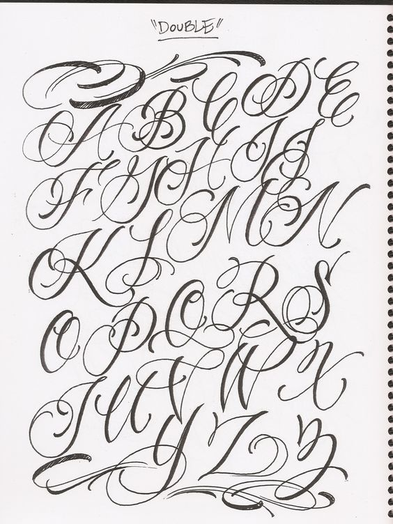 images for fancy cursive fonts alphabet for tattoos