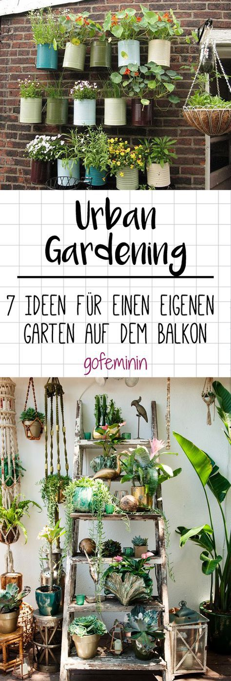 urban gardening 7 ideen f r einen eigenen gem segarten auf dem balkon gr n pinterest der. Black Bedroom Furniture Sets. Home Design Ideas