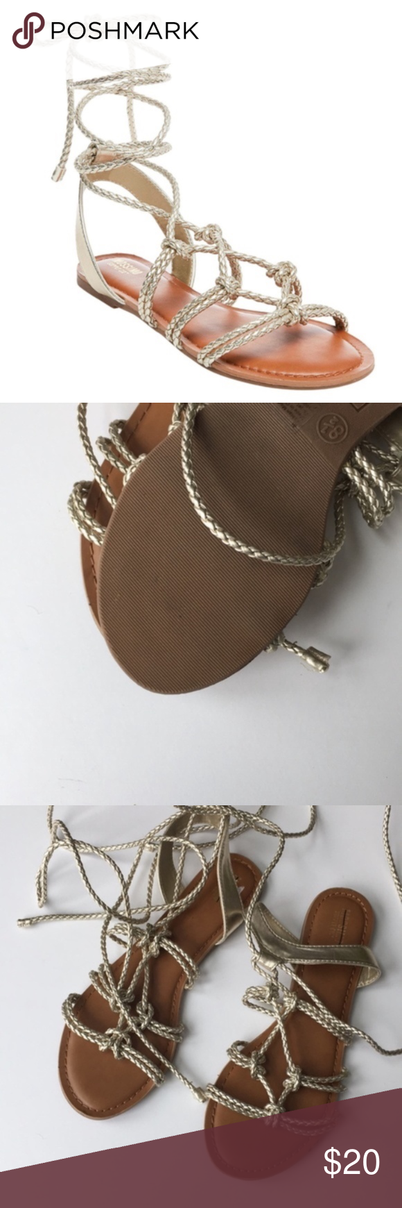 6365256a32b Mossimo Keenan Gladiator Sandals Gold New Brand  Mossimo Condition  Brand  new no tags Size  10 Mossimo Supply Co. Shoes Sandals