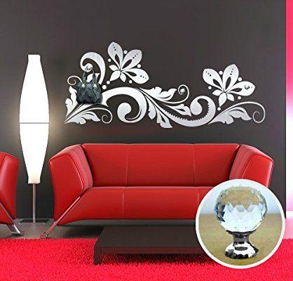 Adesivi Parete Fiori.00461 Adesivo Murale Con Pomelli Stile Swarovski Per