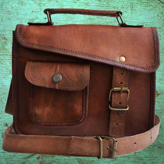 Stylish small leather messenger bag satchel handbag purse man bag ...