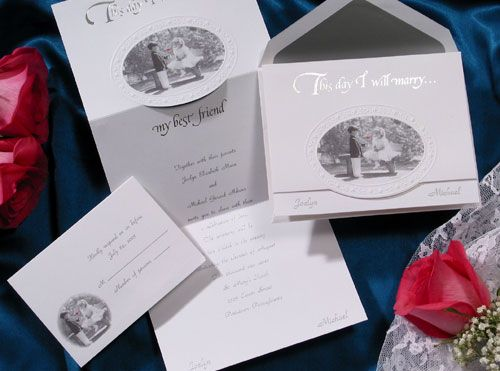 Wedding Invitations Children With The Touch Of A Simple Red Rose