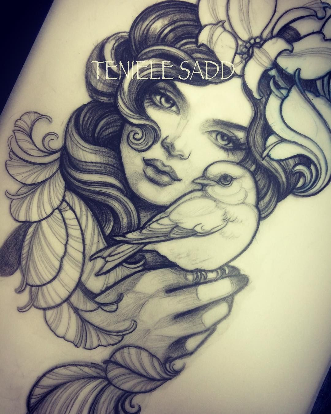 Mother Nature Tattoos: Teniele Sadd (@teniele) On