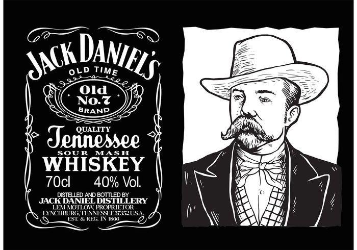Jack Daniels Vector Label En 2019 Etiqueta De Jack