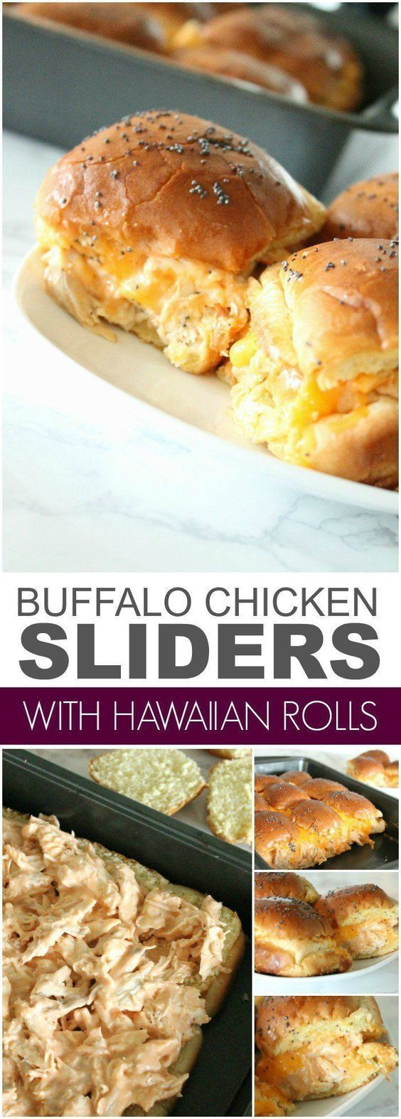 Buffalo Chicken Sliders Recipe with Hawaiian Rolls! - Passion For Savings