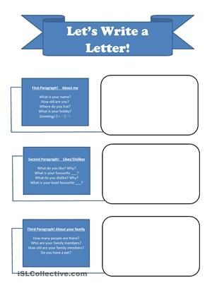Breakdown Of Writing A Self Introduction Letter To A Pen Pal  Esl