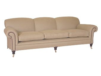 George Smith Elverdon Arm Sofa, Fixed Back, 3 Seater