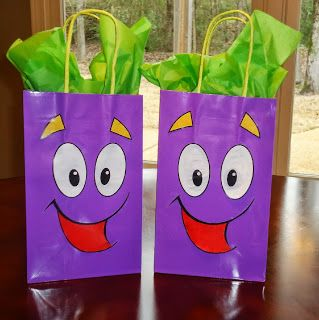 Goodie bags Dora theme Backpack character I made these Ideas