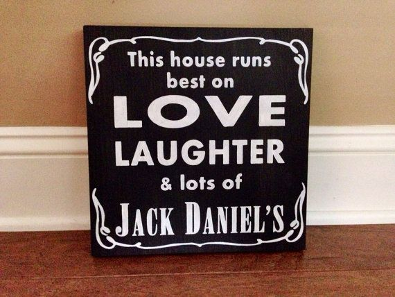 Jack daniels sign painted jack daniels decor bar decor bar
