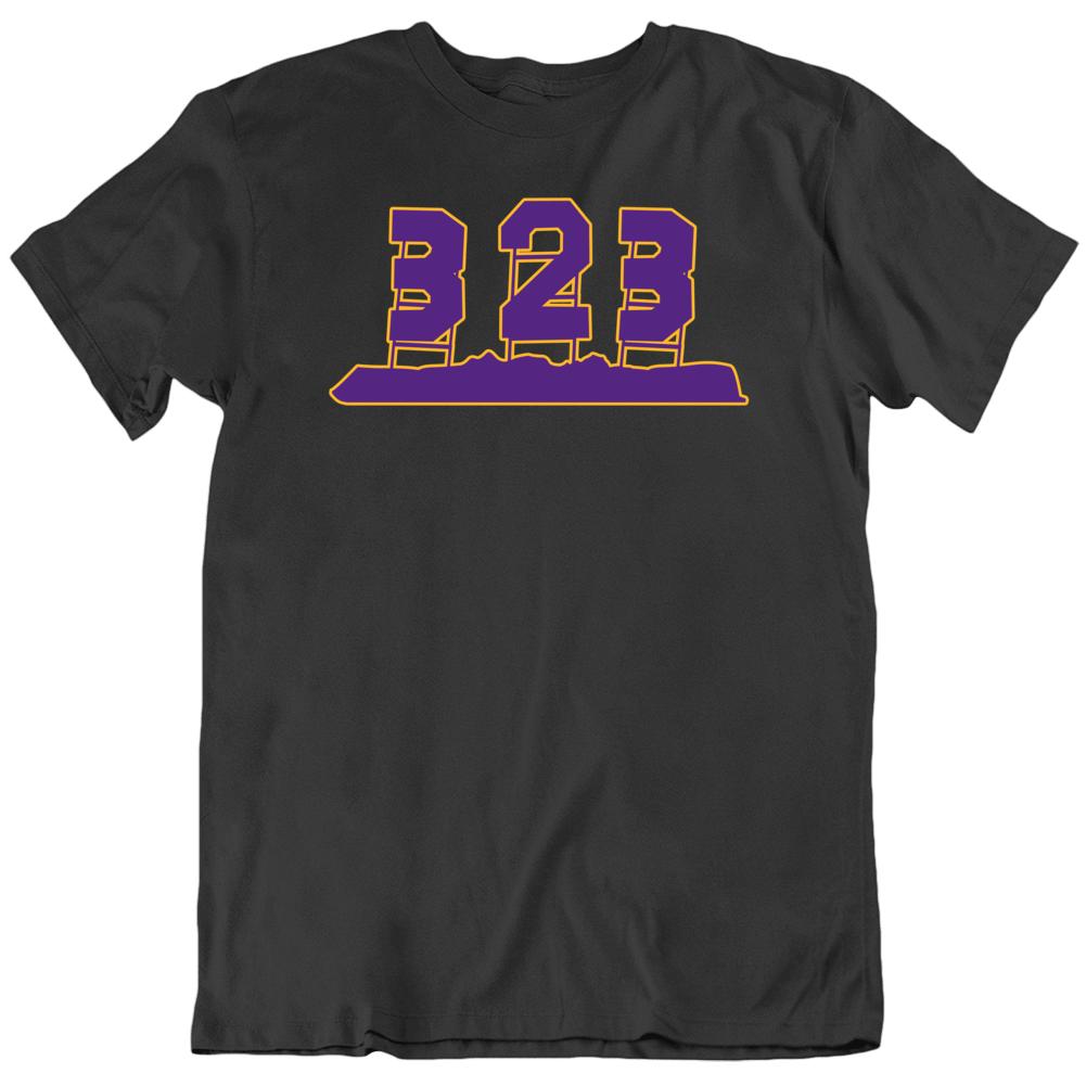 Lebron James Anthony Davis 323 Area Code La Basketball Fan V3 T Shirt Basketball Fans La Basketball Lebron James